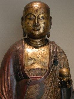 Serene golden buddha