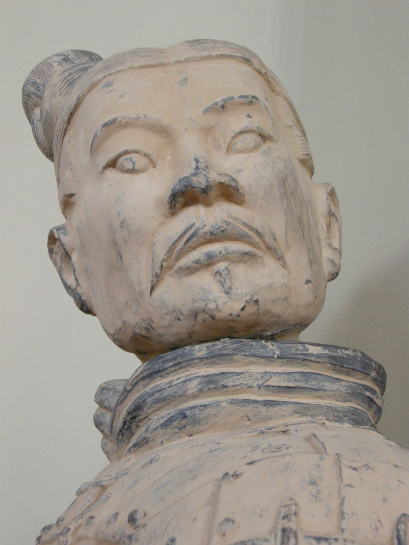 statue of dignified Asian man
