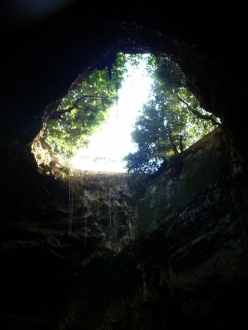 inside the Grotte di Castellana