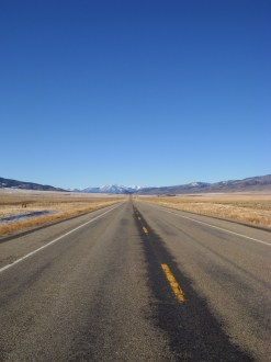 a desolate stretch of highway