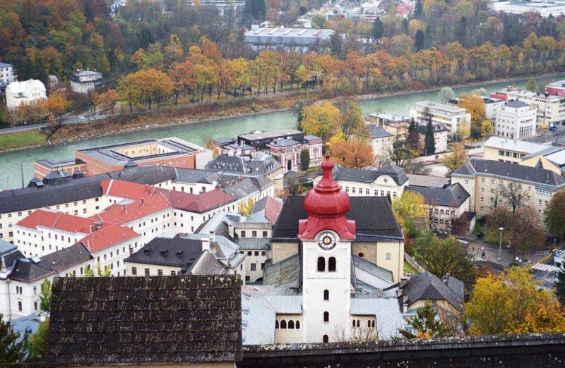 roofs of salzburg, austria