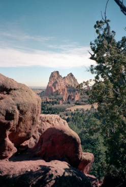 rock formations in the Garden of the Gods, Colorado Springs
