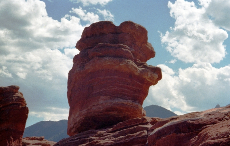 World-famous Balancing Rock in the Garden of the Gods