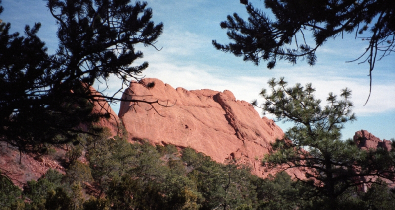 rock formations in the Garden of the Gods