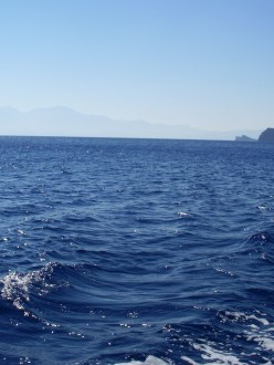 waves off the coast of Crete