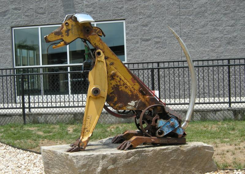 Scrap Metal Art: Dog