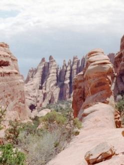 Red rock spires in Utah
