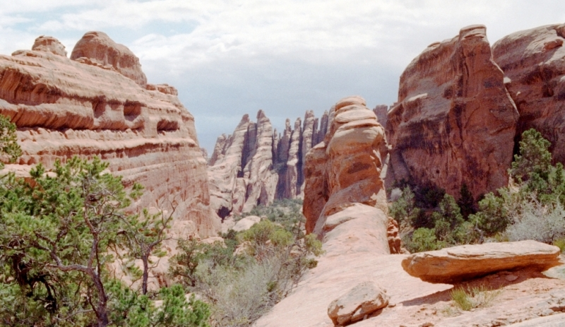 Red rock spires in Utah