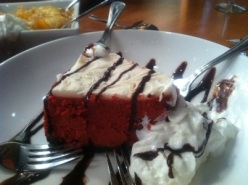 Red Velvet Cheesecake at Sweet Georgia's Juke Joint in Atlanta, Georgia