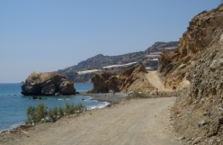 A road on the southern coast of Crete