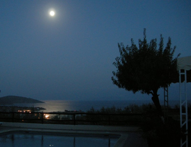 Full Moon Reflections on Mirabello Bay, Crete