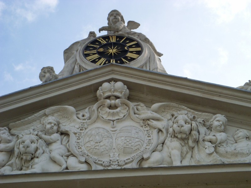 Ornate details on Schloss Benrath (Benrath Palace)