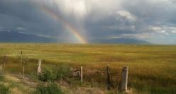 A rainbow over the Sangre de Cristo Mountains, San Luis Valley, Colorado, 2012