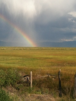 A rainbow over the Sangre de Cristo Mountains, San Luis Valley, Colorado, 2012