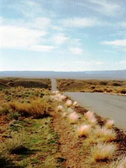 a deserted stretch of highway in Utah