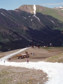 summer skiing in Colorado