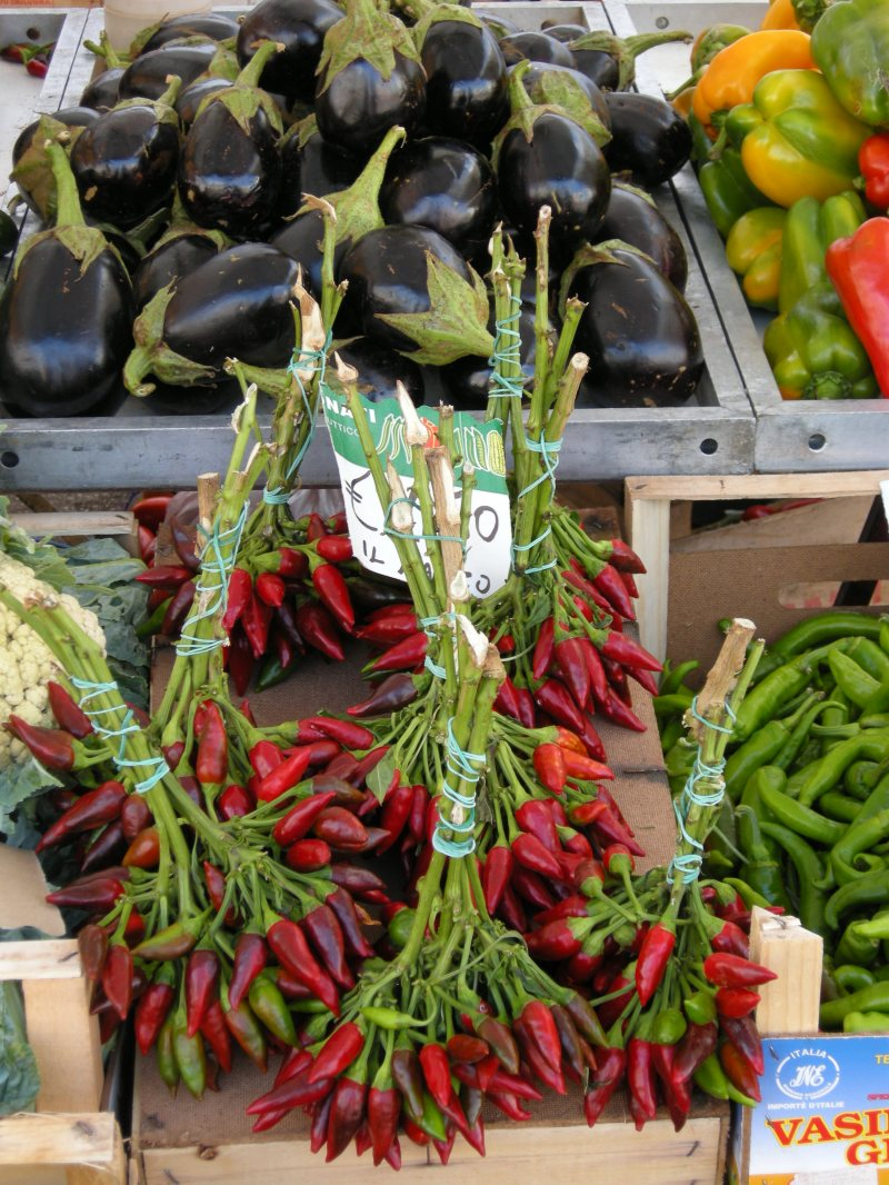 produce at an outdoor market