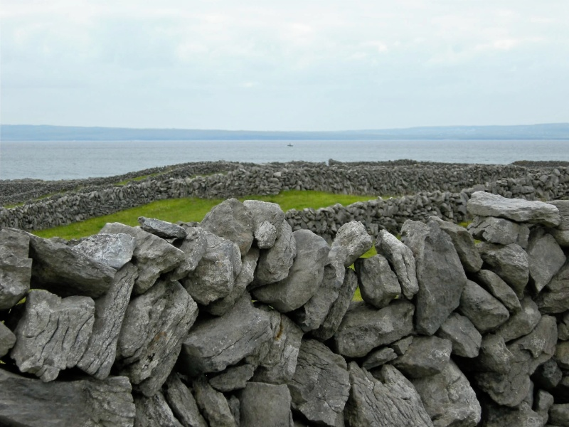 a rock wall on the island of Inisheer