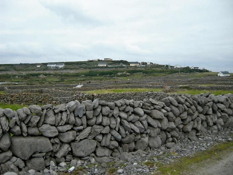 rock walls on the island of Inisheer