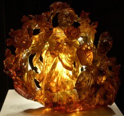 amber carving at the Carnegie Museum of Natural History, Pittsburgh