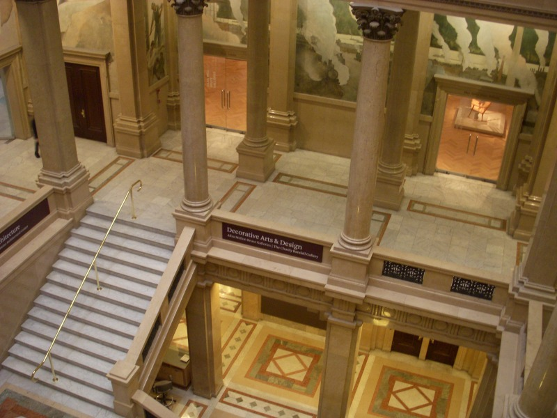 staircase in the Carnegie Museums of Art and Natural History