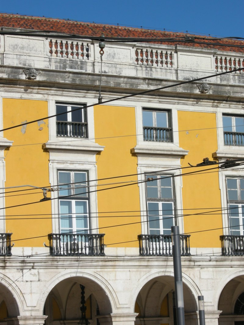 a yellow building in Lisbon