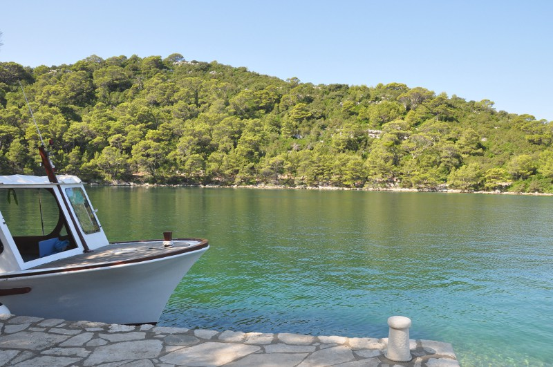 dock on St. Mary Island, Mljet