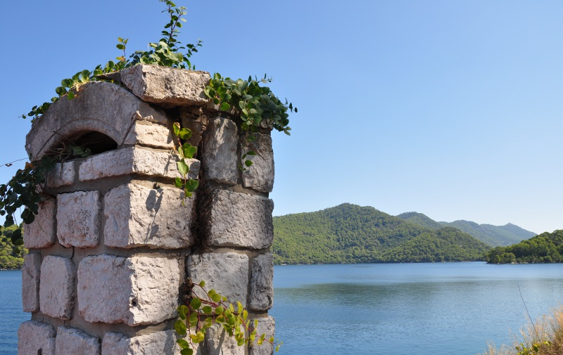 view from the Benedictine monastery on Mljet