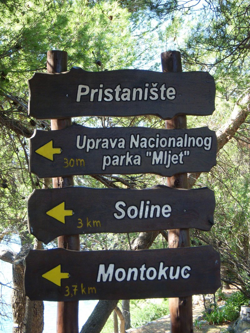 sign for Mljet National Park