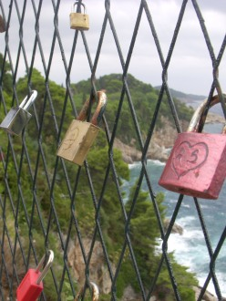 love padlocks on a fence in Dubrovnik, Croatia
