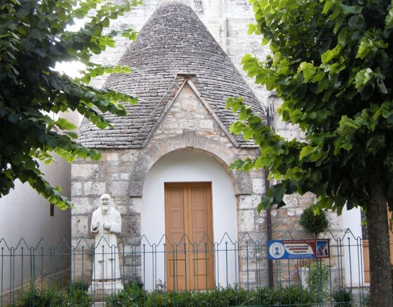 trulli house church in Alberobello, Italy