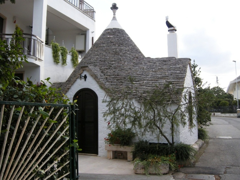 a trulli house in Alberobello, Italy