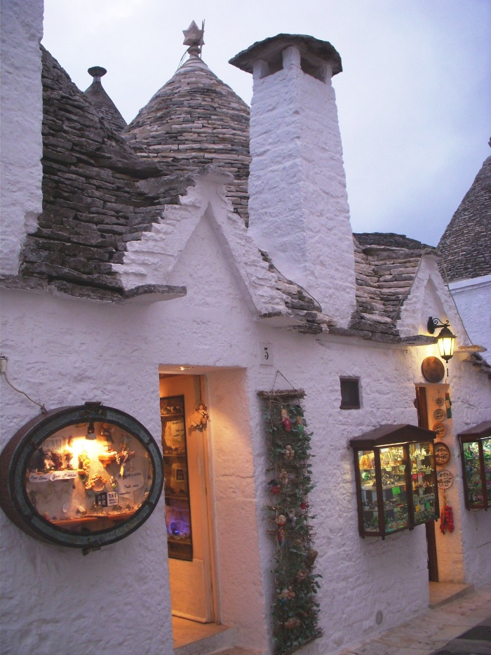 trulli house shop in Alberobello, Italy