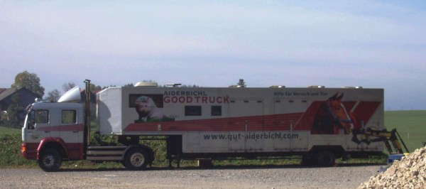 Gut Aiderbichl animal sanctuary's rescue truck