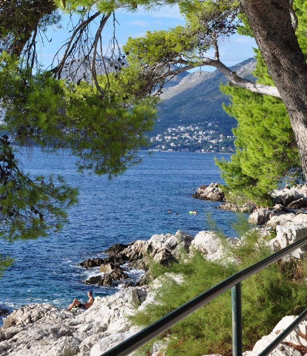admiring the view: gazing at the Adriatic from Croatia's Dalmatian Coast