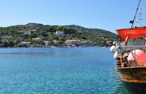 a boat off the coast of Croatia