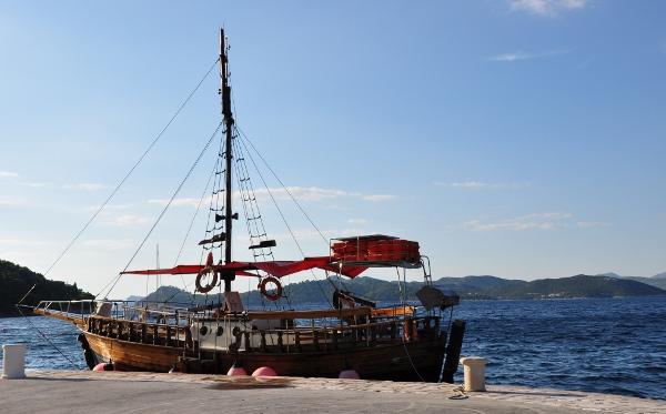a boat off Croatia's Dalmatian Coast