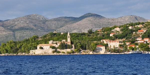 a church on Croatia's coastline
