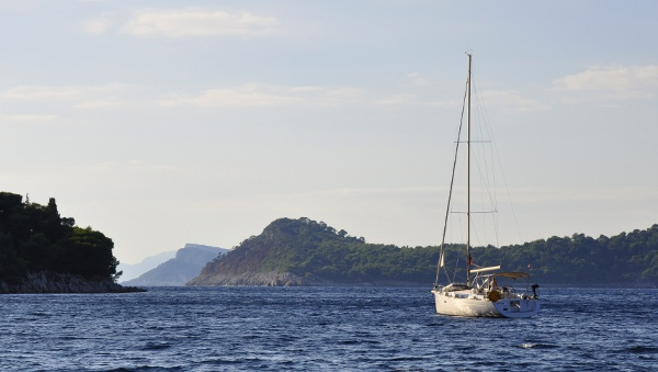a sailboat off Croatia's coast