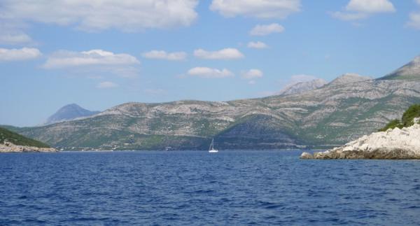 sailing along Croatia's coast