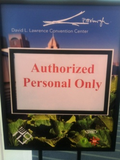 Misspelled text on a sign: Authorized Personal Only