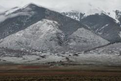 a homestead at the base of the Sangre de Cristo Mountains in Colorado's San Luis Valley