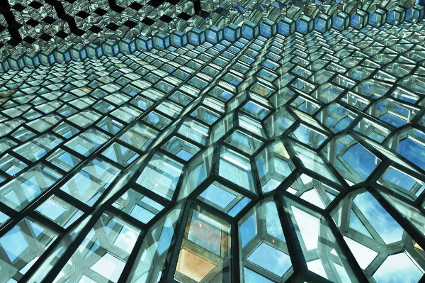 lines & patterns: HARPA Conference Hall windows, Reykjavic, Iceland
