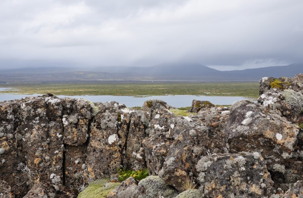 a view of Lake Thingvallavatn, Thingvellir National Park, Iceland
