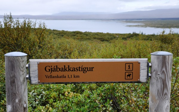 a hiking trail in Thingvellir National Park, Iceland