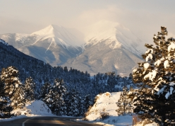 snowy mountain peaks near Johnson Village, Colorado