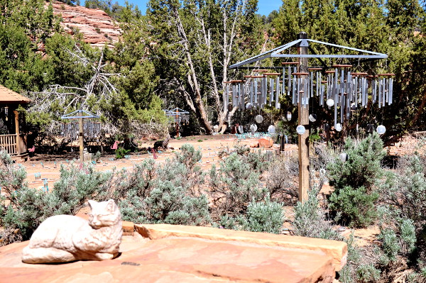 wind chimes at Angels Rest, Best Friends Animal Sanctuary in Kanab, Utah