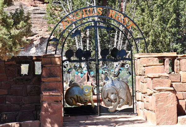 gate to Angels Rest at Best Friends Animal Sanctuary in Kanab, Utah