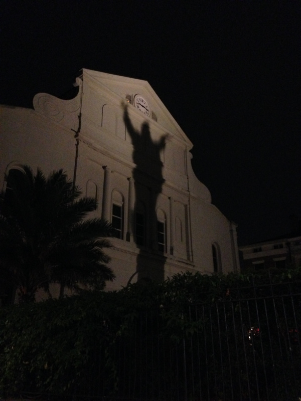 New Orleans' French Quarter is spooky.