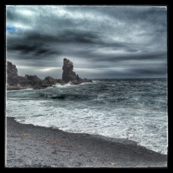 a stormy west coast of iceland
